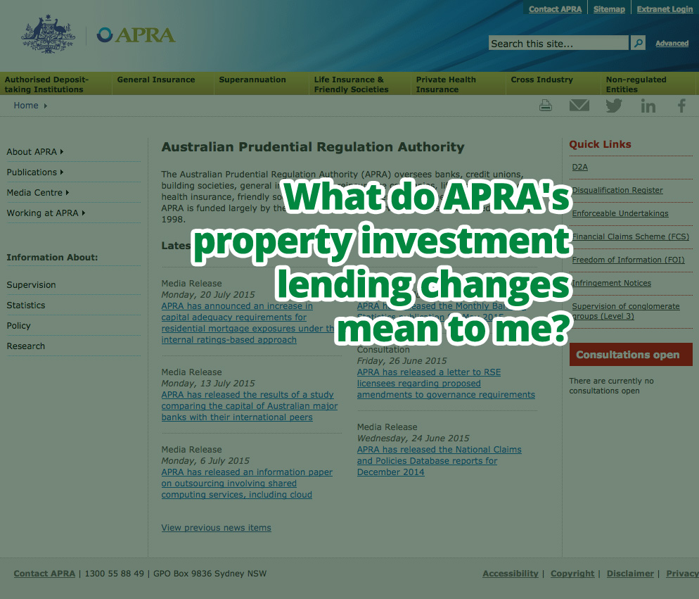 What do APRA's lending changes mean to me?