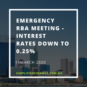Emergency RBA meeting - interest rates down to 0.25%
