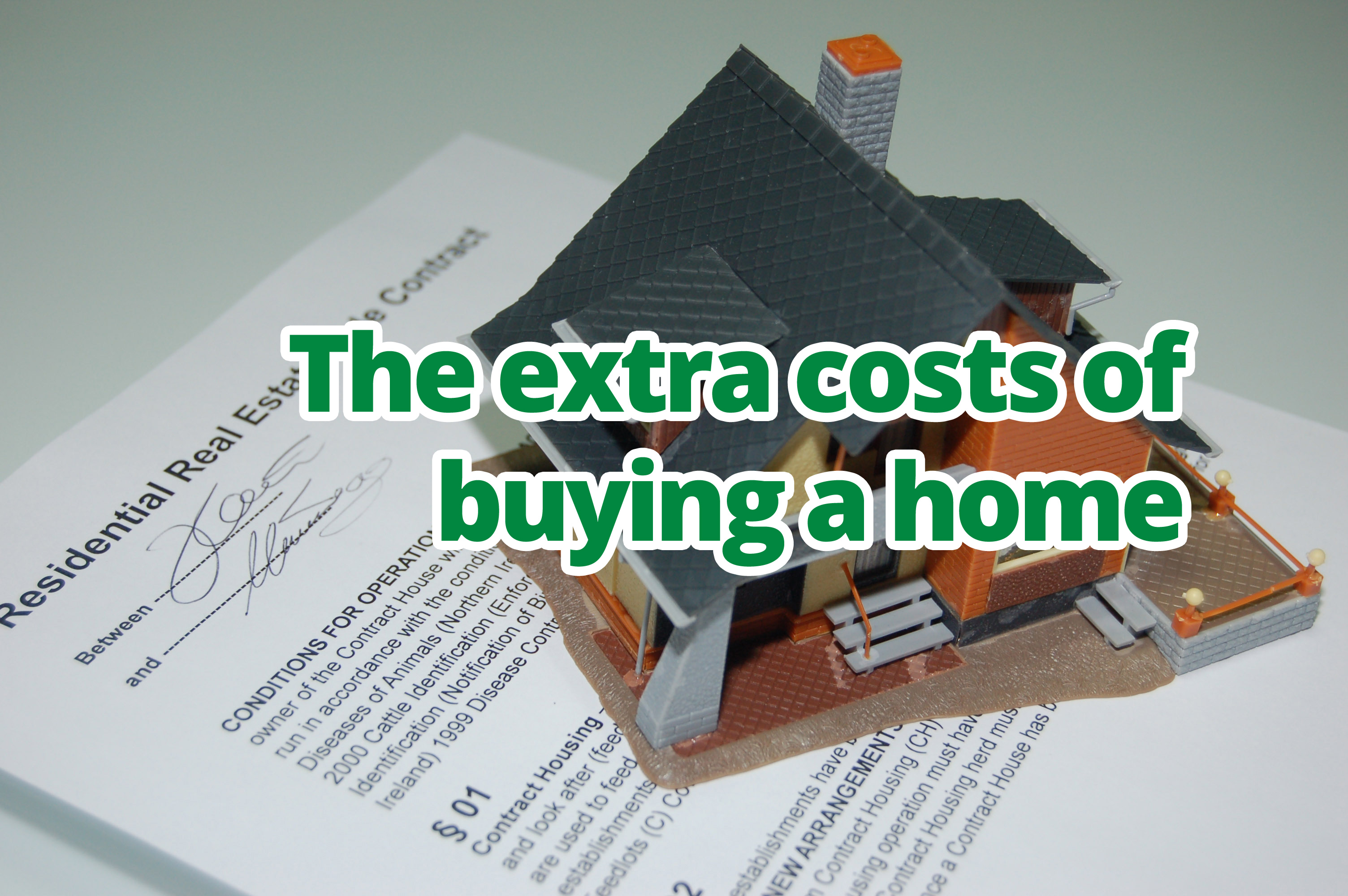 The extra costs of buying a home