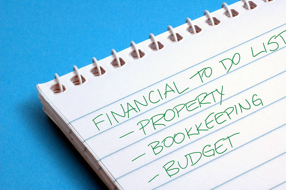 Financial to do list