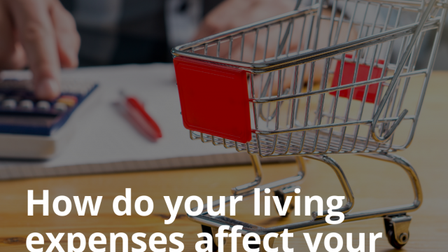 How do your living expenses affect your borrowing power?