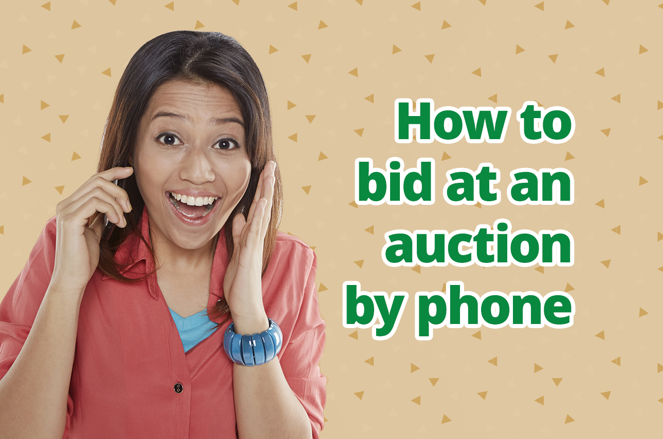 How to bid at an auction by phone