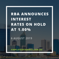 RBA rates on hold at 1.0% August 2019