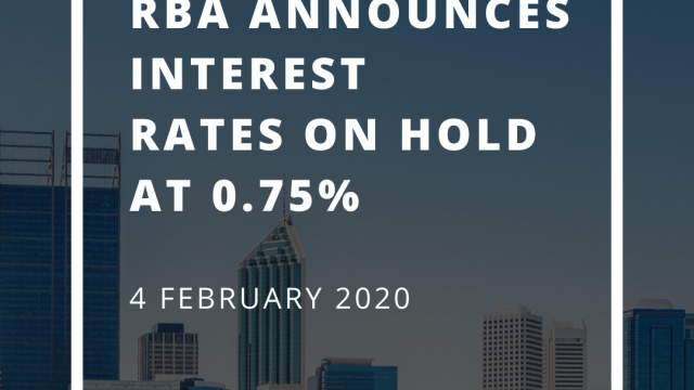 RBA announces interest rates on hold at 0.75% - 4 February 2020
