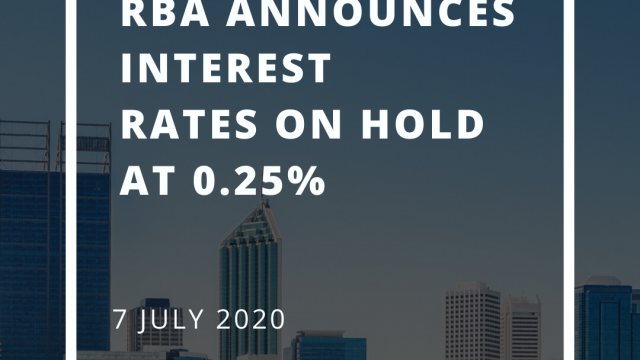 RBA announces interest rates on hold at 0.25% - July 2020