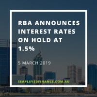 RBA announces rate on hold at 1.5% for March 2019