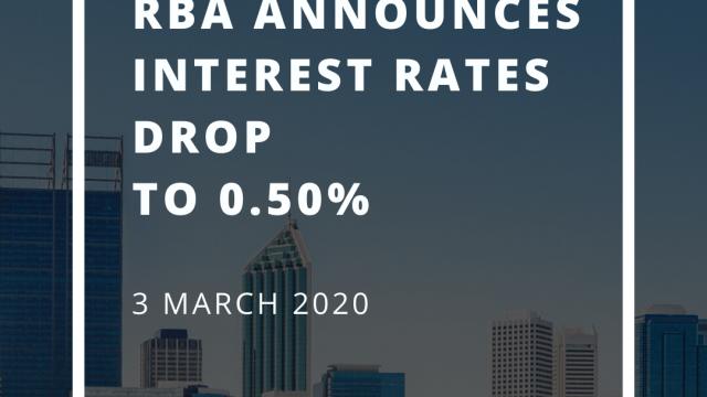 RBA announces interest rates drop to 0.5%
