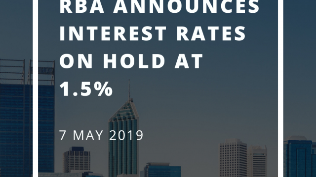 Interest rates on hold at 1.5% for May 2019